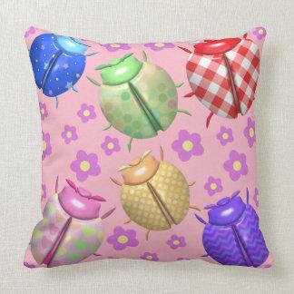 Ladybugs and flowers cute baby kids room nursery cushion