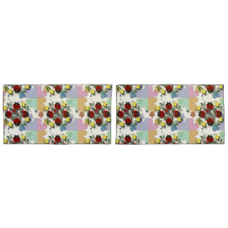 Ladybugs and Flowers Pillowcase