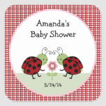 Ladybugs and Flowers Stickers/Envelope Seals