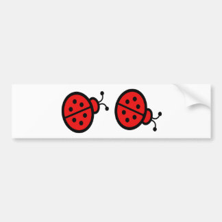 Ladybugs Art Bumper Sticker