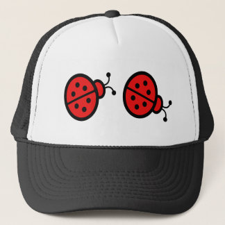 Ladybugs Art Trucker Hat