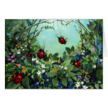 Ladybugs At Play Note Card