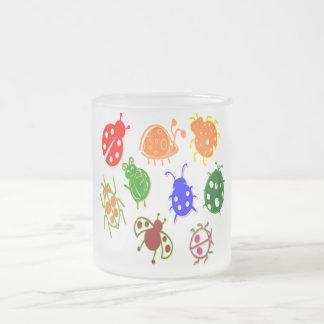 Ladybugs - Colorful Frosted Glass Mug