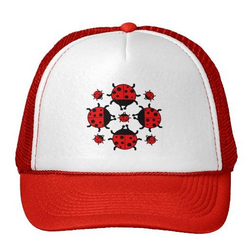 LADYBUGS DESIGN HATS