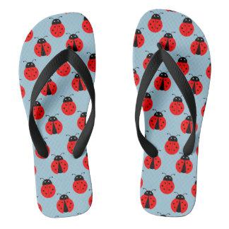 Ladybugs Flip Flops