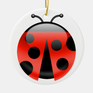LadyBugs for Luck Christmas Ornament