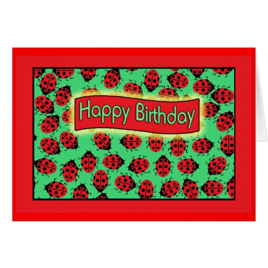 ladybugs happy birthday . card