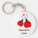 Ladybugs in Love Valentine Keychain