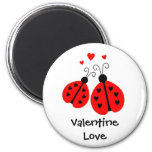 Ladybugs in Love Valentine Magnet