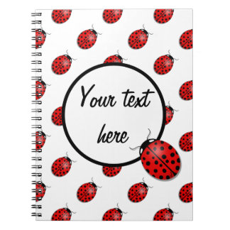 Ladybugs in red notebooks