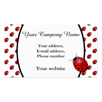 Ladybugs in red pack of standard business cards