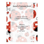 Ladybugs (Ladybirds, Lady Beetles) - Red Black Full Colour Flyer
