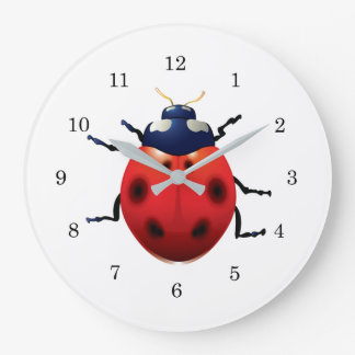 Ladybugs Large Clock