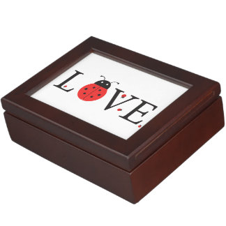 Ladybugs 'Love' Design With Inside Lid Bonus Bugs Keepsake Boxes