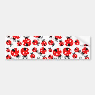 ladybugs lucky bumper sticker