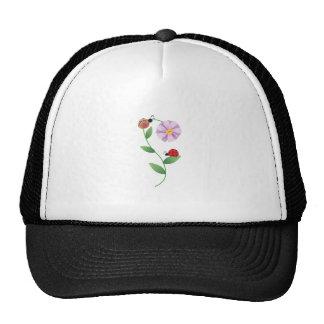 LADYBUGS ON DAISY TRUCKER HAT