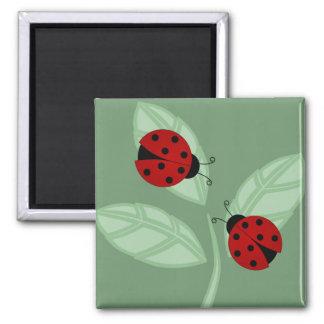 Ladybugs on Leaves Magnet