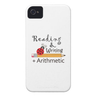 LADYBUGS ON PENCILS iPhone 4 Case-Mate CASES