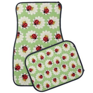 Ladybugs pattern car mat