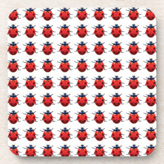 Ladybugs Pattern Coaster