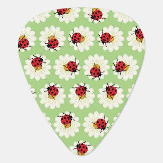 Ladybugs pattern guitar pick