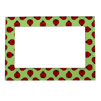 Ladybugs Pattern Magnetic Frame