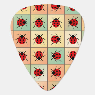 Ladybugs pattern plectrum