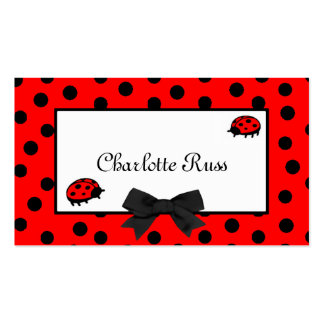Ladybugs & Polka Dots Mommy Card Pack Of Standard Business Cards