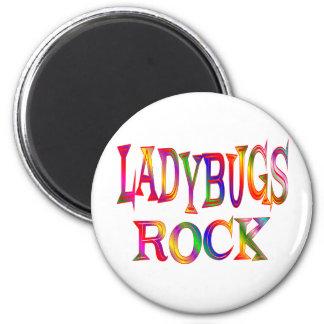 Ladybugs Rock 6 Cm Round Magnet