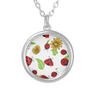 Ladybugs Silver Plated Necklace