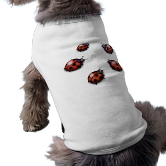 Ladybugs Sleeveless Dog Shirt