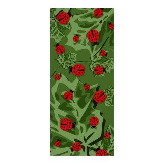 ladybugz. 10 cm x 24 cm invitation card