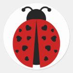ladybugz. classic round sticker