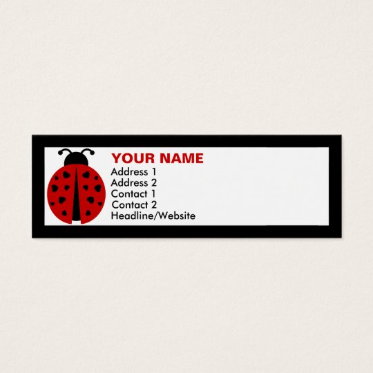 ladybugz. mini business card