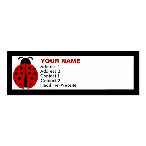 ladybugz. pack of skinny business cards