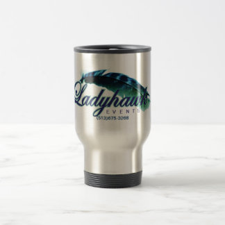 Ladyhawk Events logo 15oz travel Mug