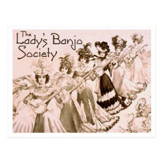 Lady's Banjo Society Postcard