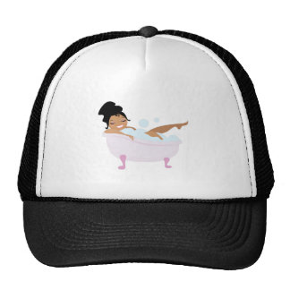 Ladys Bubble Bath Mesh Hats