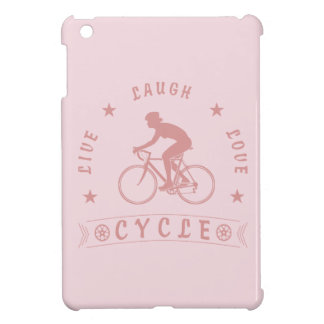 Lady's Live Laugh Love Cycle text (pink) Case For The iPad Mini