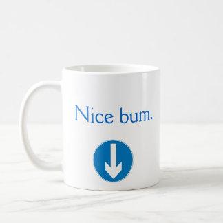 Lady's NICE BUM w arrow graphic back mug