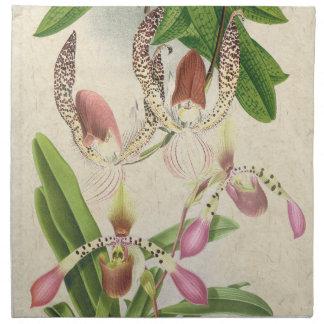 Ladys Slipper Orchid Floral Flower Cloth Napkins