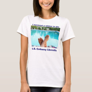 "Lady's t-shirt ""I survived a winter"""