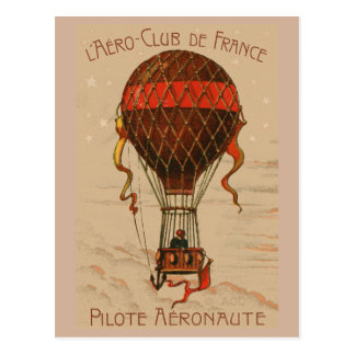 L'Aero-Club de France Hot Air Balloon Postcard