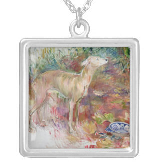 Laerte the Greyhound, 1894 Silver Plated Necklace