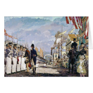 Lafayette and the National Guard by Ken Riley Card