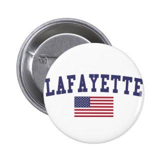 Lafayette IN US Flag 6 Cm Round Badge