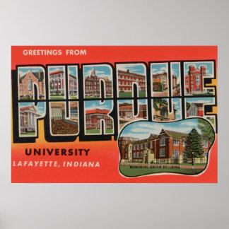 Lafayette, Indiana - Purdue University Poster
