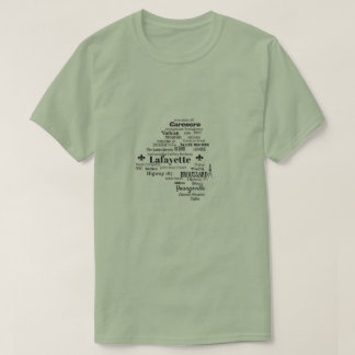 Lafayette Parish Louisiana Cities & Streets Shirt