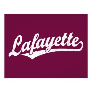 Lafayette script logo in white distressed 21.5 cm x 28 cm flyer