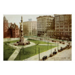 Lafayette Square Buffalo NY 1915 vintage Poster